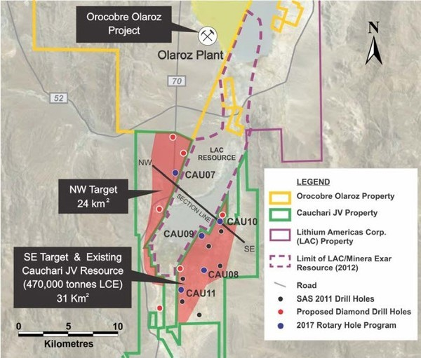 Advantage Lithium cauchari project map