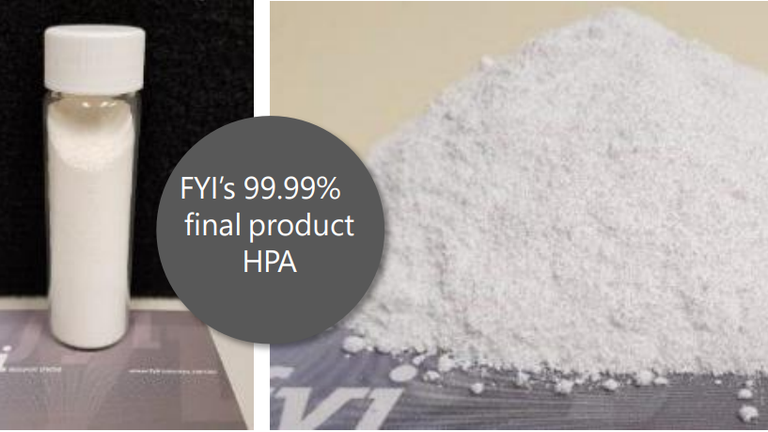 HPA-Produkt von FYI; Foto: FYI Resources
