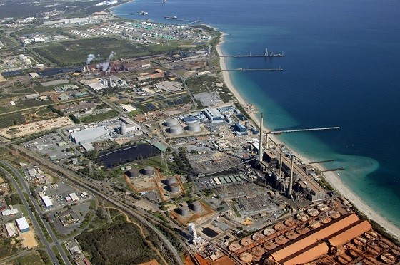 Luftansicht des Industriegebiets Kwinana; Quelle: Kibaran Resources