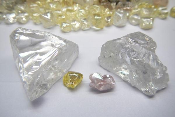 Lucapa Diamond Lulo diamonds from the latest sale parcel including Type IIa gems