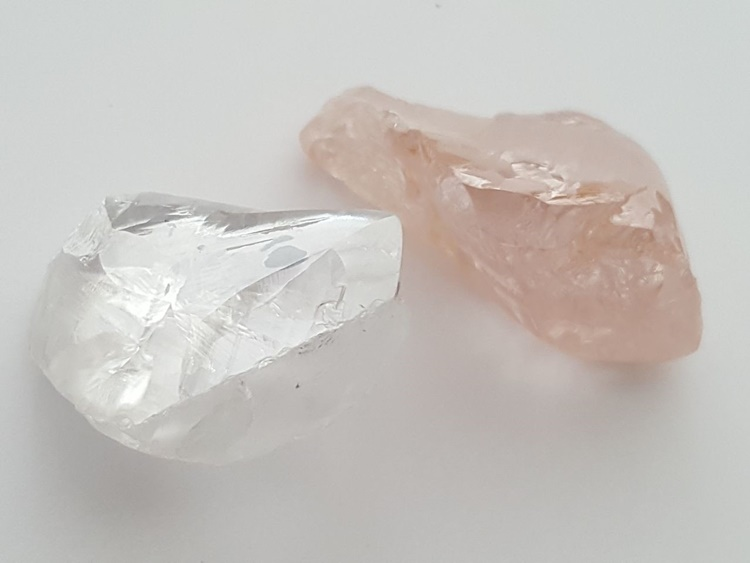 Lucapa Diamond 43 carat D colour white Type IIa diamond and 46 carat pink gem from new Mining Block 4 which were not included in the latest sale parcel