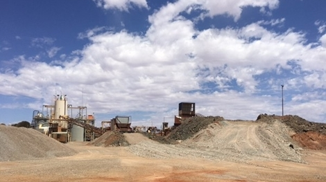 monument mining murchison rom and primary crusher access routes constructed