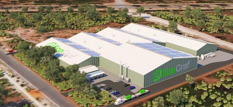 Dastellung der geplanten Anlage zur Herstellung von Batteriegraphit; Quelle: EcoGraf;
