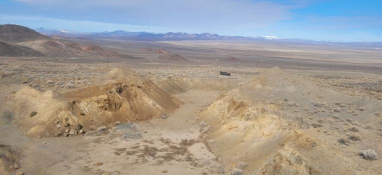 Das Gabbs-Projekt in Nevada; Foto: P2 Gold